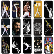 Freddie Mercury Queen band Rock and roll music Soft Silicone Phone Case for iPhone X XS MAX XR 7 8 6 6S plus 5S SE(China)