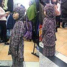 SKIRT HIJAB RAMADAN Coordinates Muslim-Suit Prayer-Suit 2piece-Set ADN ISLAMIC FOR Baby-Girl