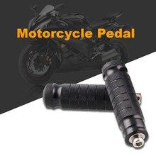 2pcs Black CNC Aluminum Universal Motorcycle protection Motor Bike Folding Footrests Foot Rests Pegs Rear Pedals Set Parts