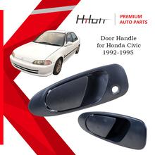 Zewnętrzna klamka boczna tylnego kierowcy kompatybilna z 1992-1995 Honda Civic 72680-SR4-J01Z Black tanie tanio CN (pochodzenie) Klamki
