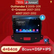 Junsun Android 10 Car Multimidia dla Mitsubishi Outlander xl 2 CW0W 2005-2011 dla Peugeot 4007 dla Citroen c-crosser 2007-2013