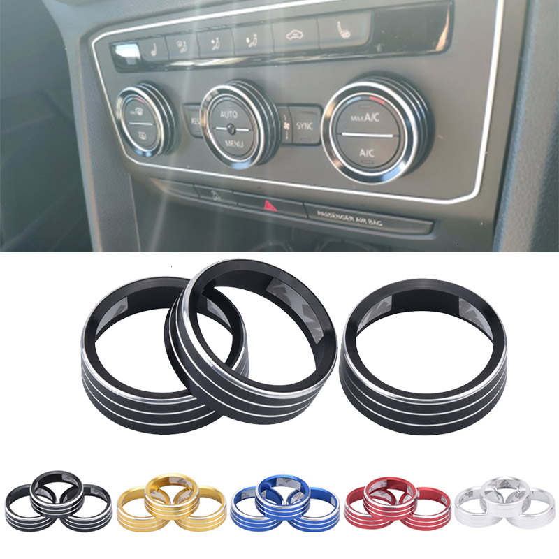 Air Conditioning Knob Decorative Cover Ring Adjust Trim Cover For VW Tiguan Atlas T-roc Ateca FR Passat B8 Variant 2017-2019