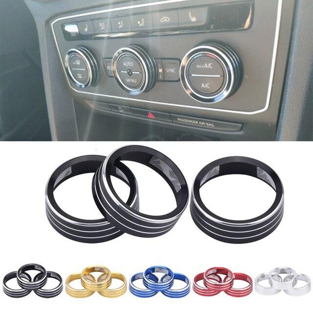Air Conditioning Knob Decorative Cover Ring Adjust Trim Cover For VW Tiguan Atlas T roc Ateca FR Passat B8 Variant 2017 2019
