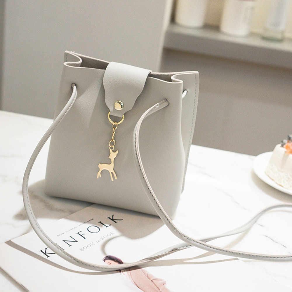 Bolso Vintage pequeño para mujer, bolso bandolera de cuero PU para mujer, bolso bandolera con cordón para niñas