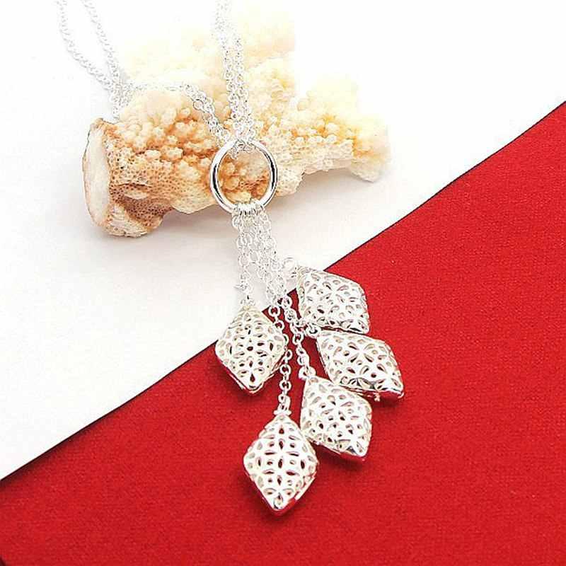 Nowa moda Choker naszyjnik srebrny 925 biżuteria geometryczne kobiety mężczyźni naszyjnik promocja hurtowa