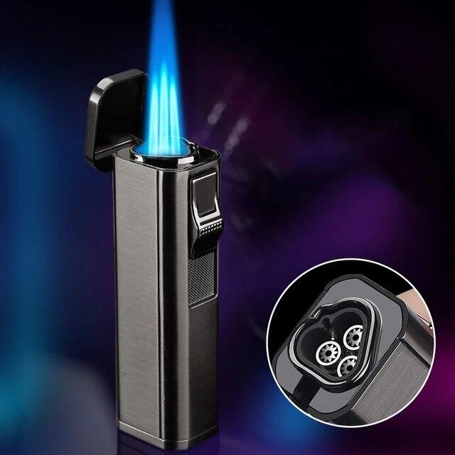 металлический тройной фонарь зажигалка для струи турбо сигарет фотография