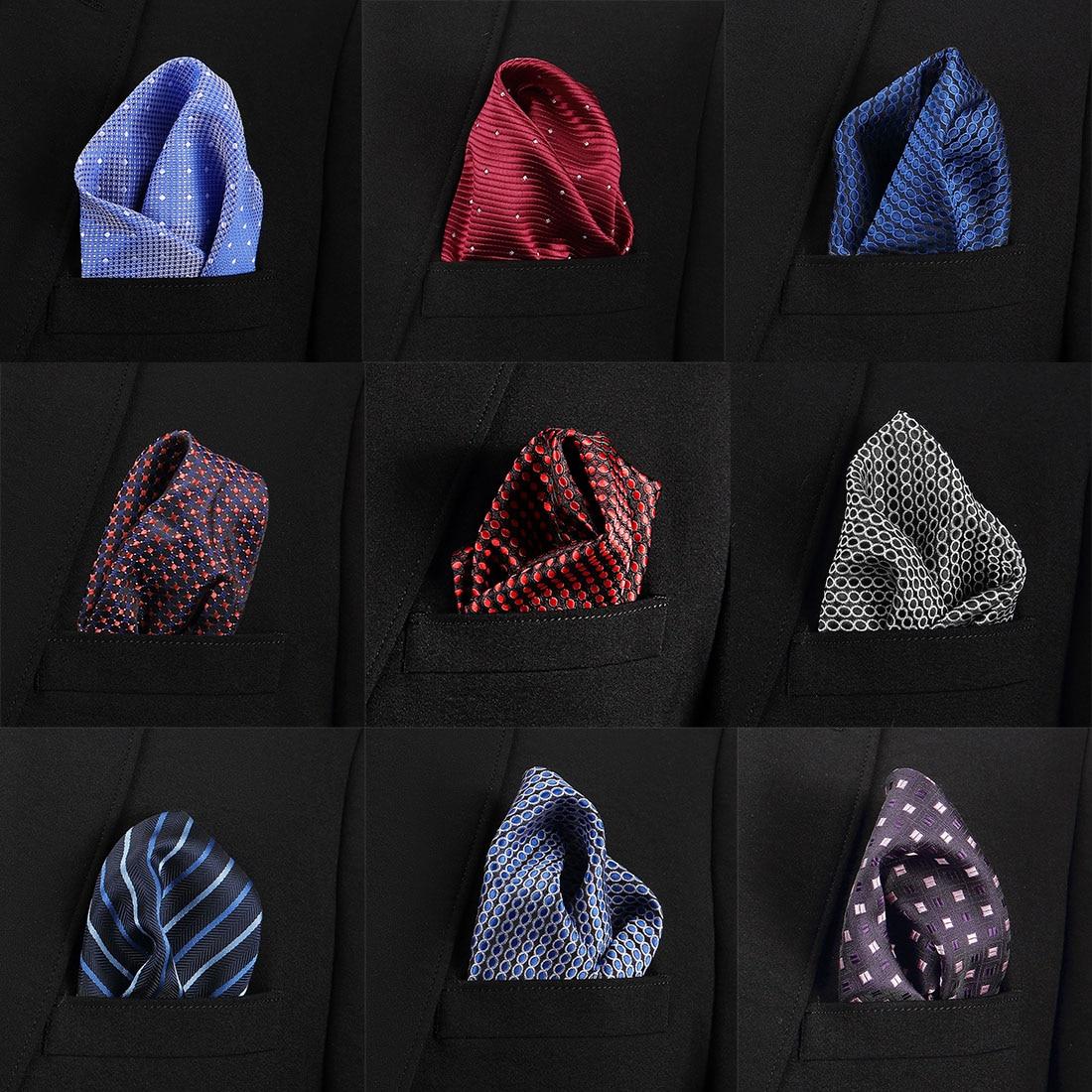 New Fashion  Men Formal Silk Satin Pocket Square Hankerchief Hanky  Color Wedding Party