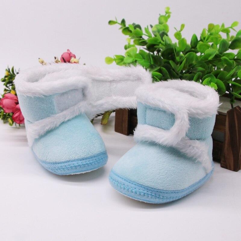Chaud nouveau-né enfant en bas âge bottes hiver premiers marcheurs bébé filles garçons chaussures semelle souple fourrure neige chaussons pour 0-18M 5