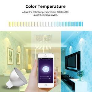 Image 5 - Boaz Smart Wifi GU5.3 Light Smart Bulb  RGBW Colorful Wifi Smart Spotlight Voice Remote Control Alexa Echo Google Home IFTT