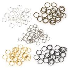 4-10mm círculo aberto saltar anéis prata/ouro/bronze conectores rachados para fazer jóias diy brincos pingente colar acessórios
