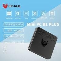 BMAX B1 más 6GB RAM 64GB EMMC 128GB SSD Mini PC Intel Core N3350 Dual Core computadora de escritorio PC Intel HD Graphics 500 WIFI Win10