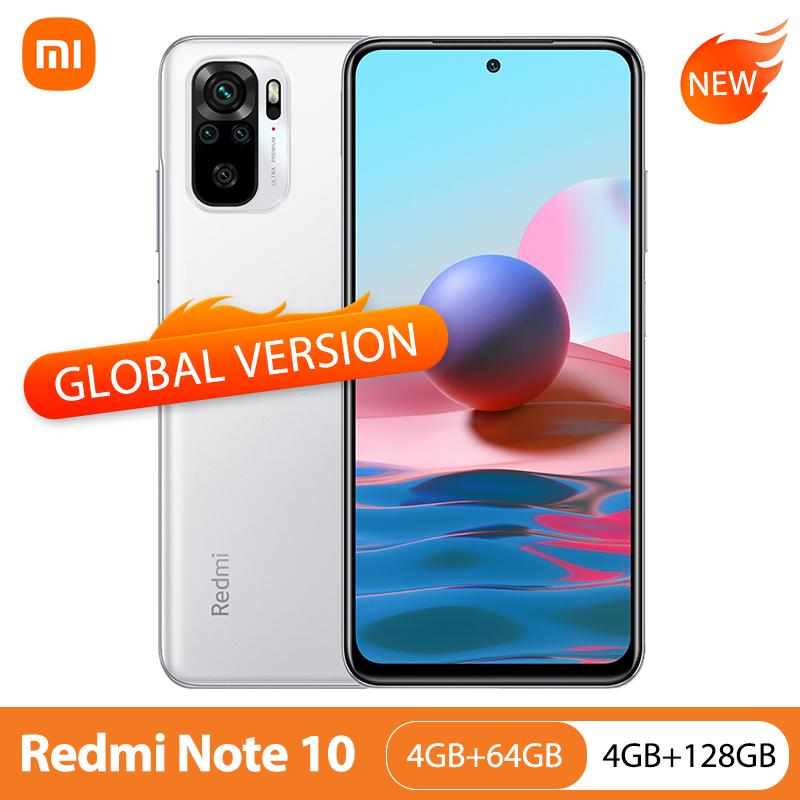 Global Version Xiaomi Redmi Note 10 4GB 64GB/128GB Mobile Phone Snapdragon 678 6.43\