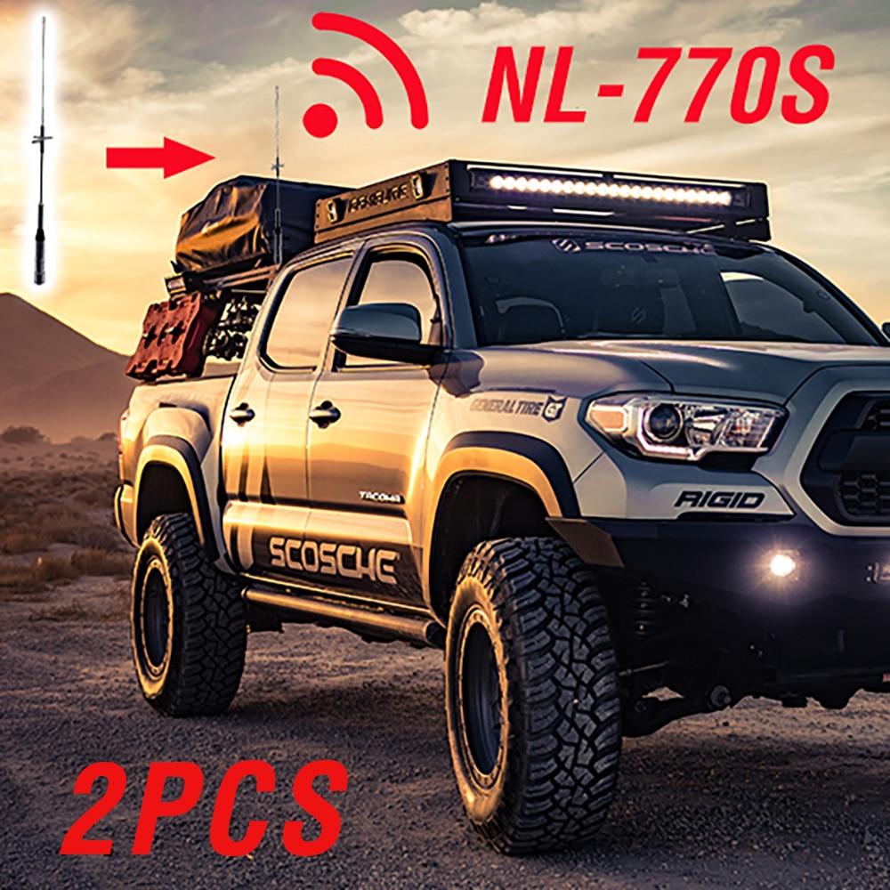 2pcs NAGOYA NL-770S Antenna High Power Gain For Mobile Car Radio UHF/VHF Dual Band NL770S QYT KT8900D Baofeng BF-9500 Two Way
