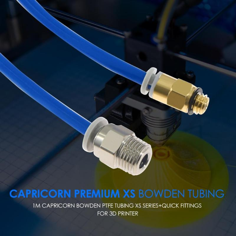 1m Capricorn Premium XS Bowden Tubing Tube 3D Printer Parts+Quick Fittings Inner Diameter 1.95mm±0.05mm Length 1m