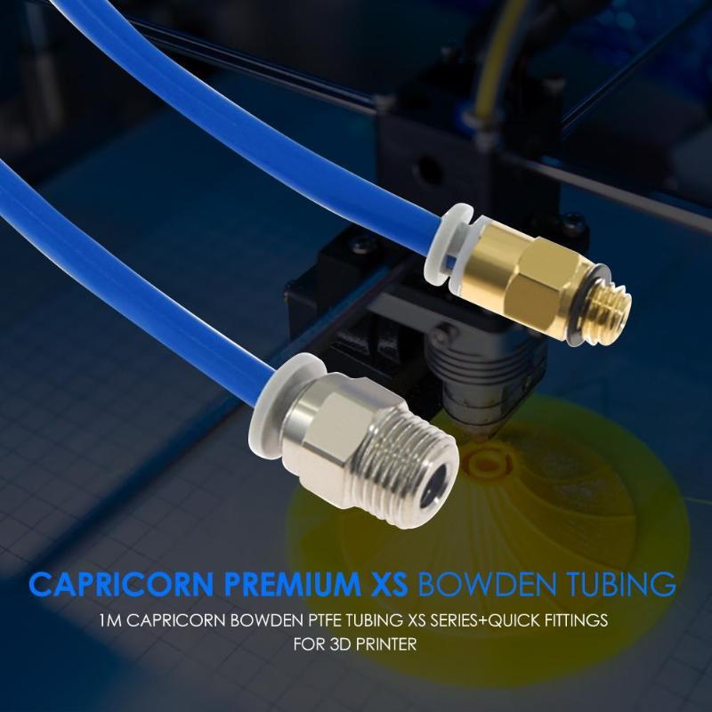 1m Capricorn Premium XS Bowden Tubing Tube 3D Printer Parts+Quick Fittings Inner Diameter 1.95mm±0.05mm Length 1m