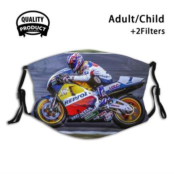 The Incomperable Mick Doohan Funny Cool Cloth Mask Mick Doohan Repsol British Gp 1996 World image