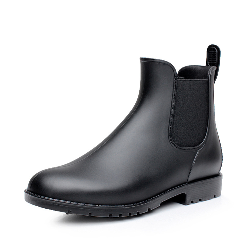 Men Rain boots man Chelsea boots male Ankle boots men Casual Boots Men rubber rain shoes Waterproof Best-selling style image