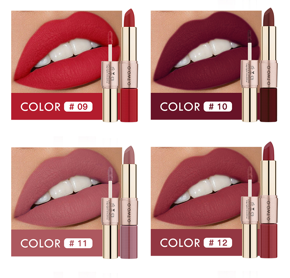 O.TWO.O Lipstick Colors from 09 - 12