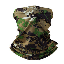 Military Tactical Bandana Summer Face Scarves Tubular Head Mask Scraf Camo Anti-UV Windproof Neck Gaiter Cover for Men Women