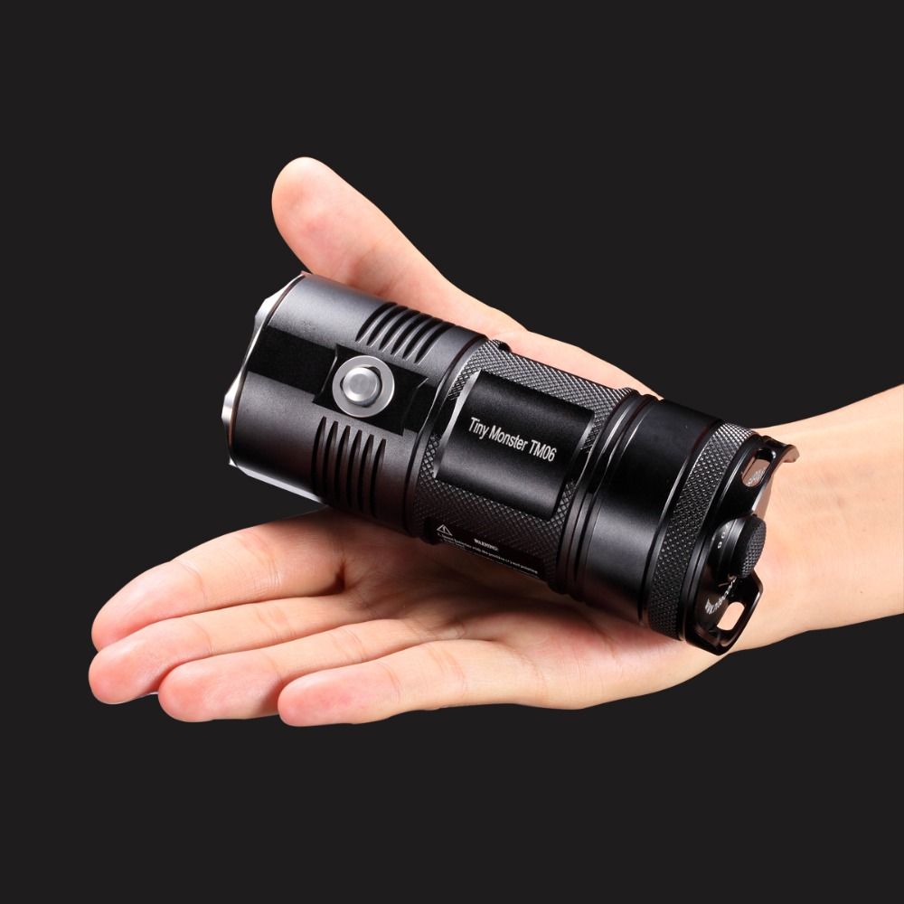 NITECORE светодиодный фонарик TM06 4000лм прожектор с 4x18650 USB портом перезаряжаемый аккумулятор для охоты, рыбалки, фонарь освещения - 4