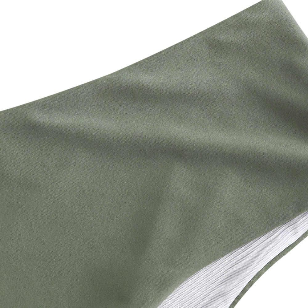 ZAFUL plaine taille moyenne culotte de Bikini 2020 femmes slips liens latéraux brésilien Bikini bas maillot de bain classique coupe bas