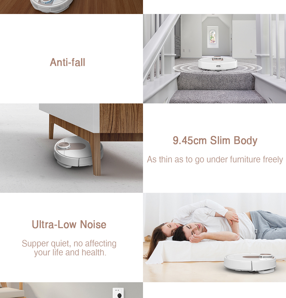VIOMI SE Y-type Electric Mop Sweeping Robot Vacuum Cleaner, Mijia APP, Save 5 Maps 7 Schedule, Carpet Hair Pet Dust Collecto 14