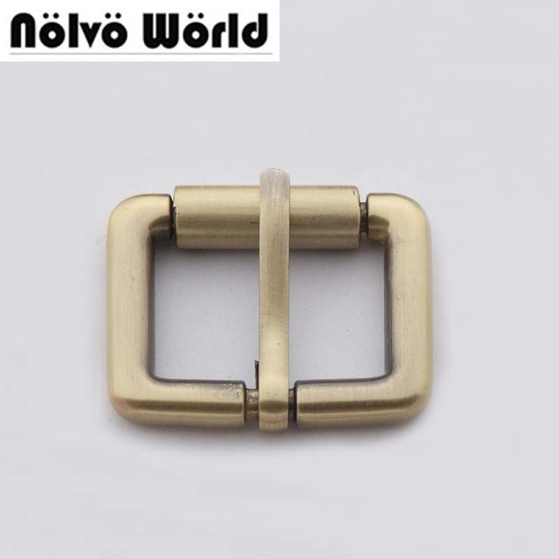 20pcs 5 Colors 2.5X1.7cm 1 Inch Brushed Antique Brass Turn Buckle Square Pin Buckle Belt Buckle