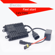 2018 Rushed Real Asic Chip High Quality 75w 24v Fast Start For Hid Ballast H1 H3 H7 H8/h9/h11 9005/hb3 9006/hb4 Xenon Kit