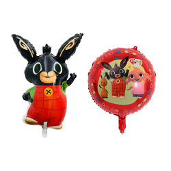 1 pçs binging balão da folha de alumínio desenhos animados balão animal festa de aniversário folha de alumínio decoração do brinquedo das crianças balão
