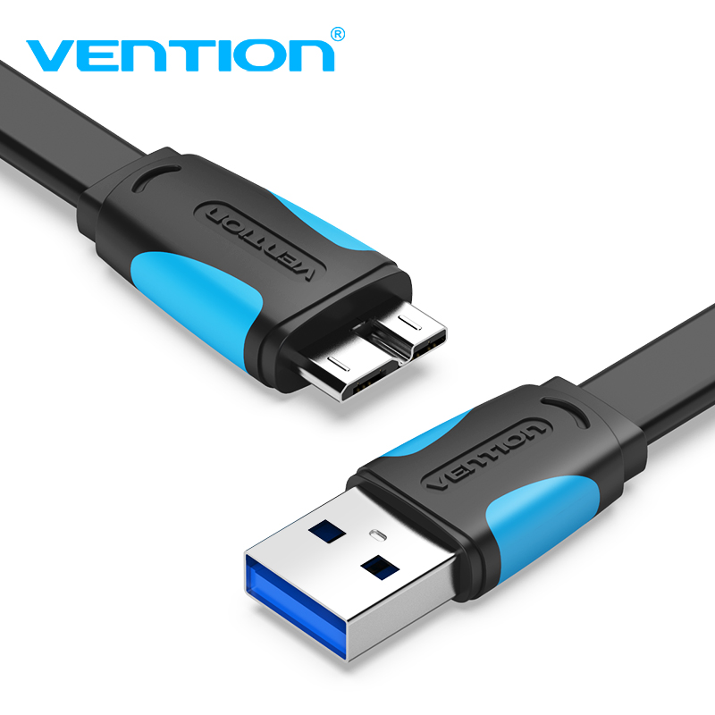 Vention Micro USB 3.0 Cable 2M 0,5M Fast USB Charger Data Sync Cable USB 3.0 Kabel mobilního telefonu pro Samsung S5 Hard Drive Disk