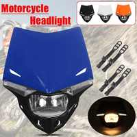 Universal Motorcycle Motocross Headlight Headlamp Mask Dual Sport Dirtbike Off Road For KTM SMR EXC SX/Yamaha WR/Honda XR CQR