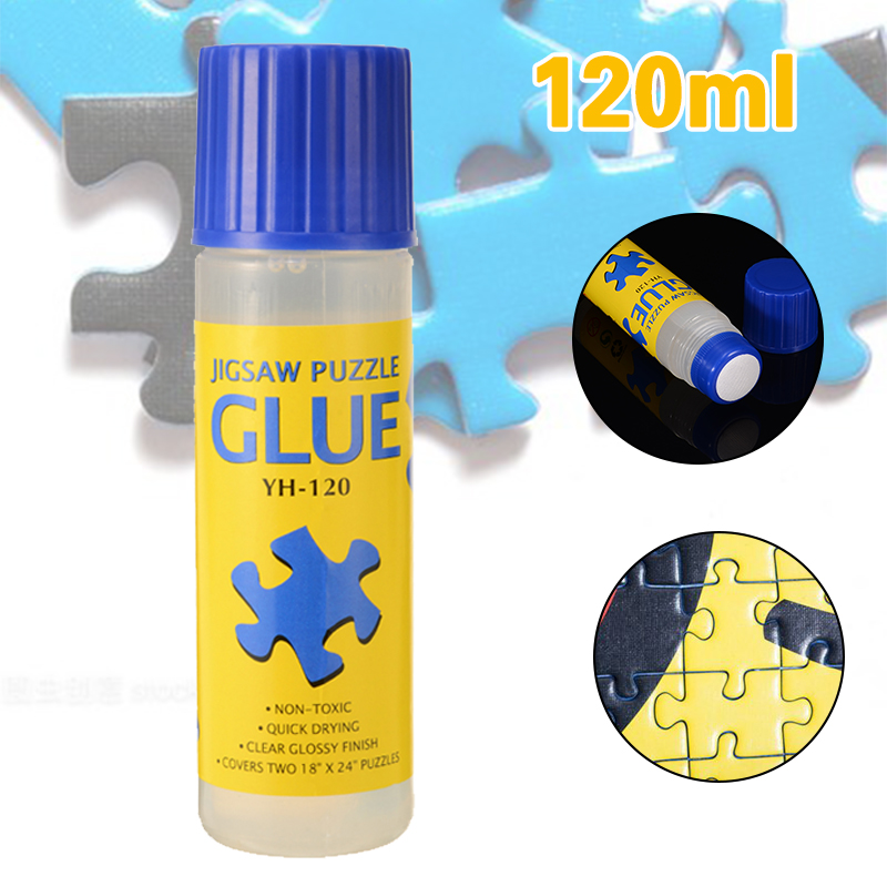 120ml Safe Clear Glue Stick Papers Jigsaw Puzzle Conserver Glue Tool Non-Toxic Self Apply Fast Dry For Puzzle Hobbyist Collector