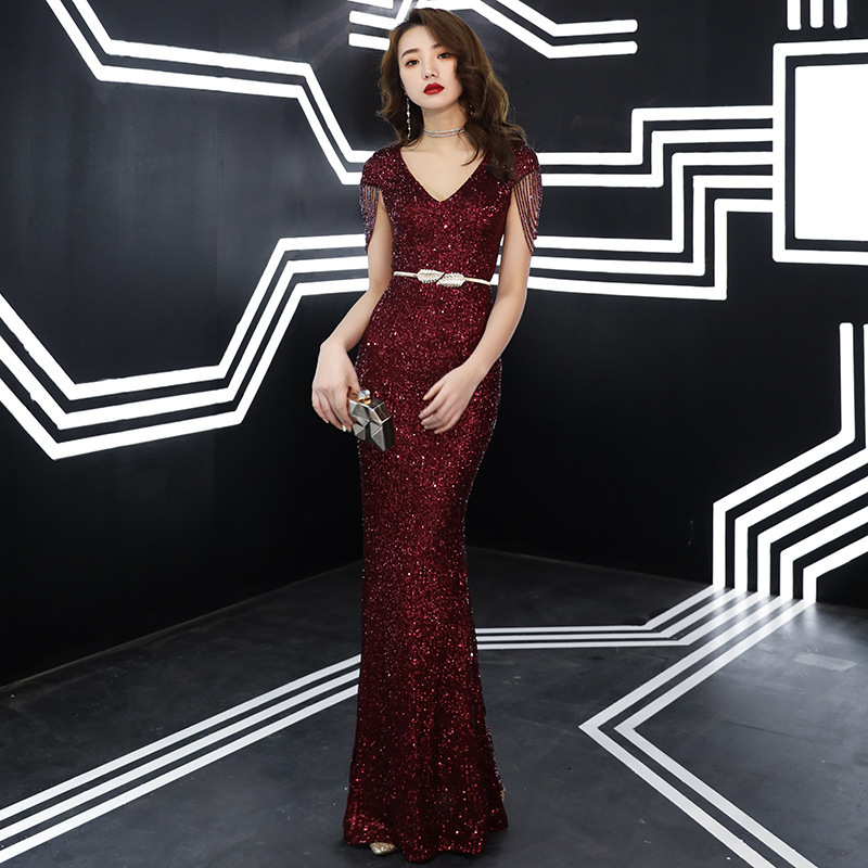 Women's Dress Formal Pleated Dress Wedding Banquet Prom Off Shoulder Mermaid Floor Length Dress