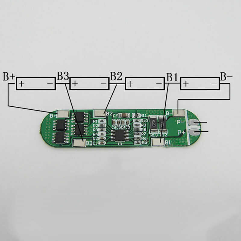 AMS-4S 6A 14.8V Lithium Li-Ion 18650 Batterij Bms Packs Circuit Bescherming Pcb Board