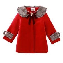 3 색 여자 겨울 따뜻한 코트 & 자 켓, 어린이 겨울 고품질 단색 긴 소매 양모 코트, 3 8Yrs 에 대 한 아기 소녀 Outwear