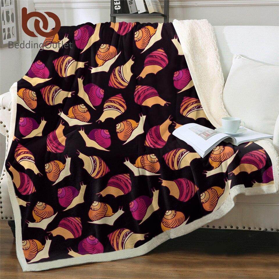 BeddingOutlet-couverture de lit en peluche | Fil de couverture, doux, peluche, style rétro, couvre-lit en peluche, Sherpa Vintage marron