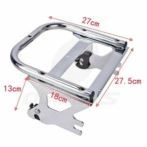 Image 3 - OUMURS Motorcycle Luggage Rack Detachable 2 up Tour Pak Pack Mount For Harley Touring Electra Street Road Glide Road King 97 08