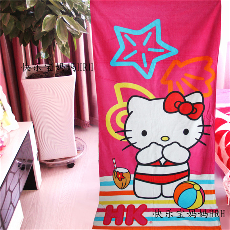 Kawaii Hello Kitty Absorbent Bath Towel Travel Swim Spa Beach Towels For Kids Adults Baby Bathroom Christmas Gift
