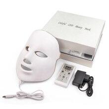 7 مصباح ليد ملون الفوتون نظام العلاج جهاز العناية بالوجه و قناع الجمال LED قناع الوجه العناية بالبشرة قناع الجمال