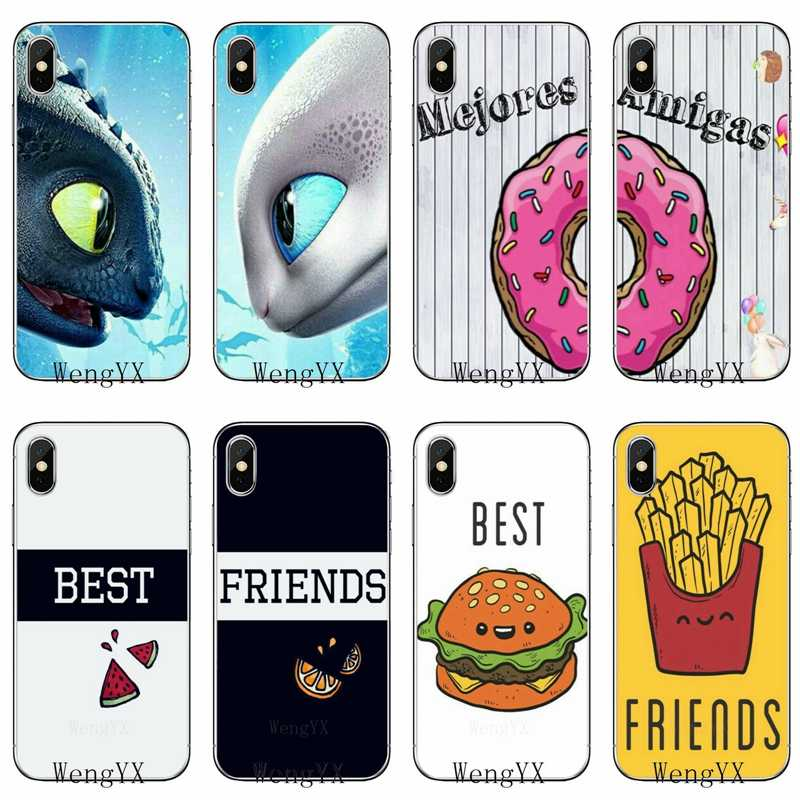 bff best friends matching For Huawei Mate 20 10 9 P30 P20 P10 P9 pro Lite P Smart plus 2019 Accessories phone case
