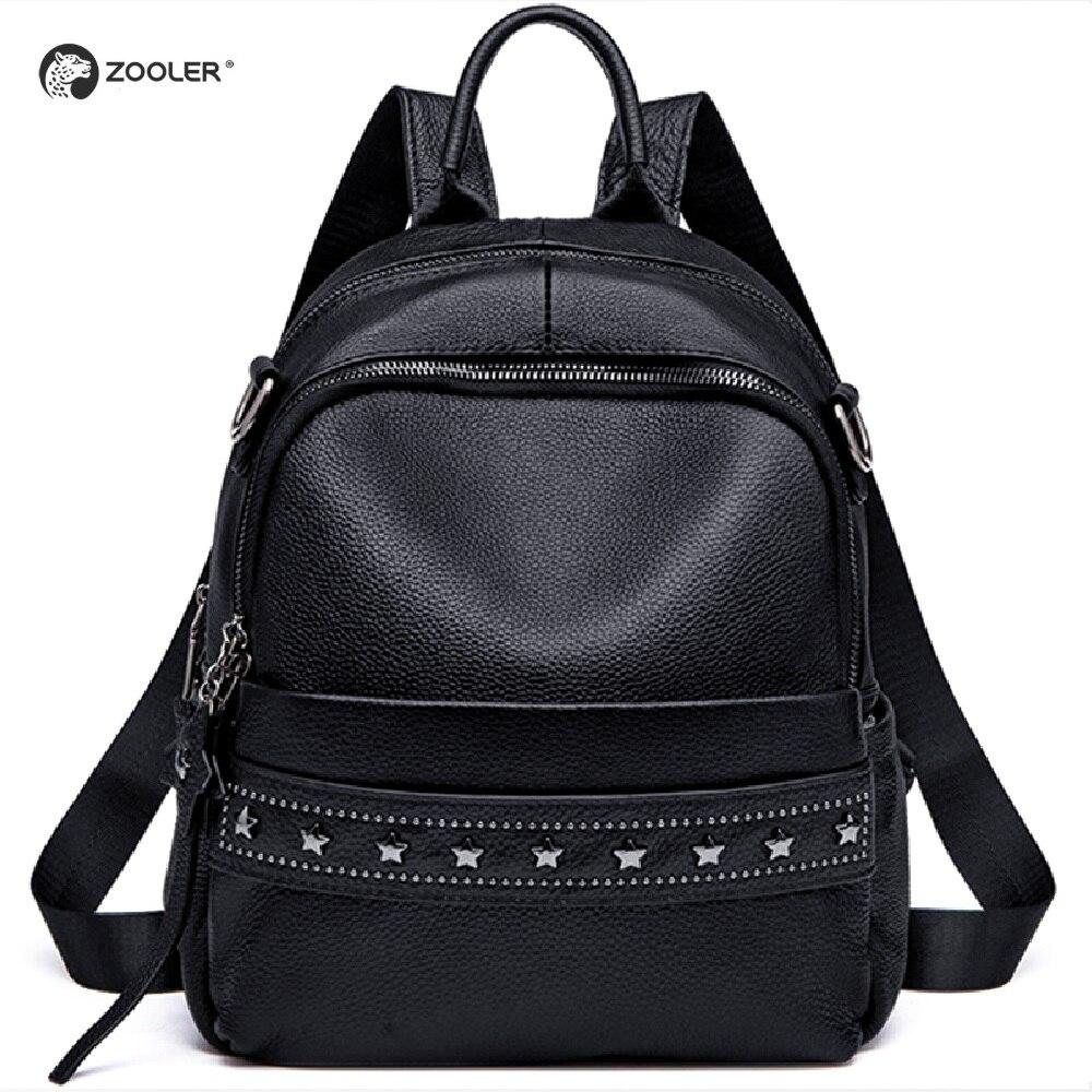 Модный натуральный кожаный рюкзак из натуральной кожи женский большой емкости школьная сумка простые Наплечные сумки для женщин Mochila