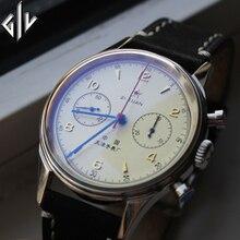 Watch Men Seagull chronograph Movement top brand Fashion Sapphire Acrylic