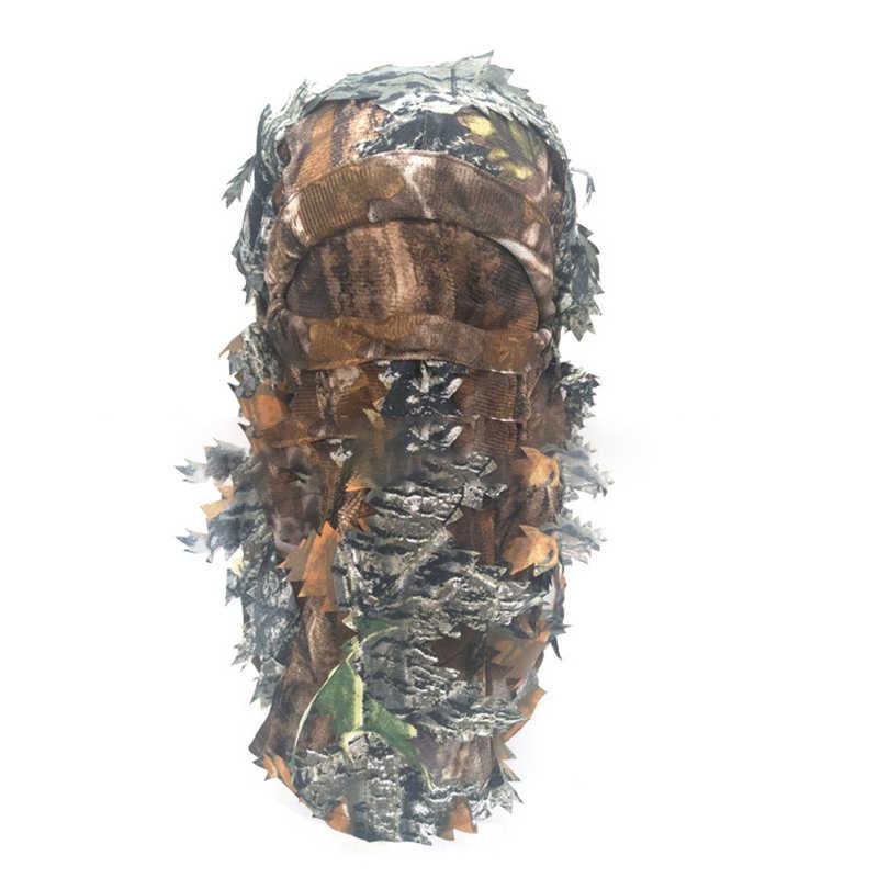 التمويه هود أفضل الإخفاء المحمولة في الهواء الطلق 3D التكتيكية قناع للصيد دعوى الاكسسوارات الادسنس الألوان الصيد هود