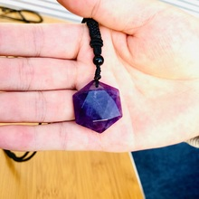 Natural Amethysts Star of David Necklaces for Women New Wealth Pendant Necklaces Men Amulet Pendant Energy Stone Judaism Jewelry