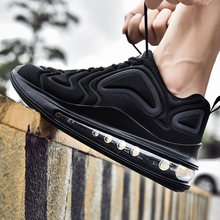 Fashion Air Cushion Neon Couple Sneakers Breathable Comfortable Men's Casual Shoes Large Size Women's Sports Running Shoes 46 47