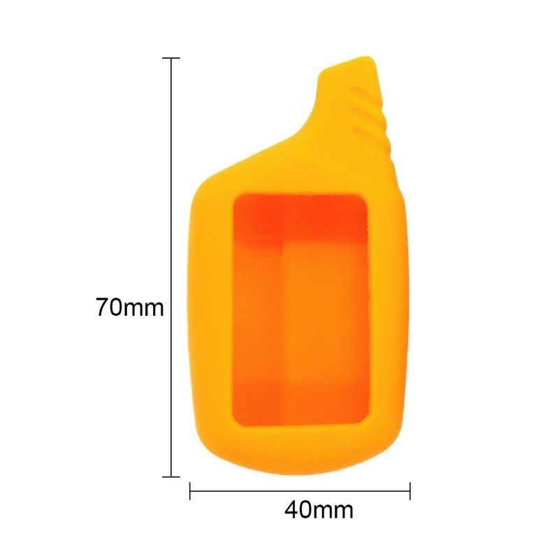 Funda para llave de coche B9/B6 funda de silicona para B91/B61/A91/A61 funda de silicona para la llave del coche Protector llavero coche remoto 2 vías alarma