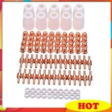 100Pcs PT 31 LG 40 Verbruiksartikelen Air Plasma Cutter Snijden Nozzles Elektrode Tip Torch Verbruiksartikelen Kits 40A Fit Voor LGK 40 Cut 40