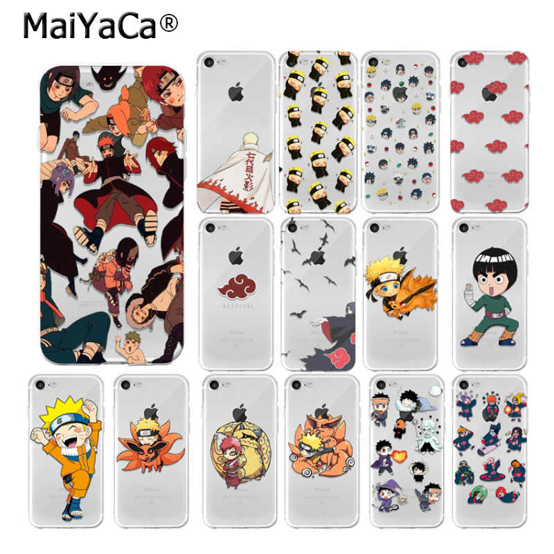 Maiyaca Naruto Smart Cover Transparan Soft Shell Ponsel Case untuk Aku 5Sx 6 7 7 Plus 8 8 PLUS X XS Max XR