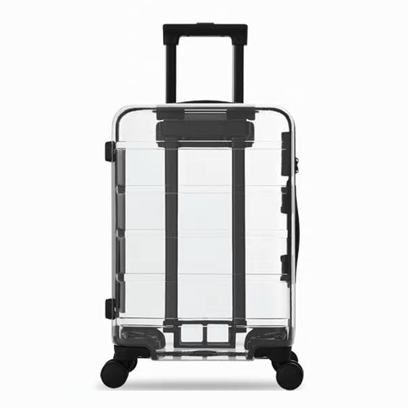 Suitcase Trolley Travel-Bag Rolling-Luggage Transparent Fashion Spinner Universal-Wheel