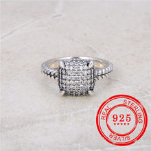 European and American popular 925 sterling silver Ring zircon inlaid retro style girl wedding gift fashion jewelry